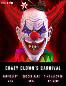 trapped in bury crazy clown's carnival